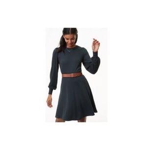 Loft Ponte Knit Long-Sleeved Green Dress Size 14